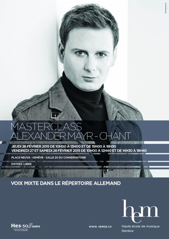 Masterclass Gesang, Dr. Alexander Mayr, Musikhochschule Genf